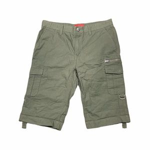 Red Saks Fifth Avenue Ripstop Shorts